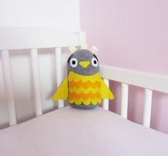 Baby Toy: Yellow Plush Owl Toy. £7.50, via Etsy.