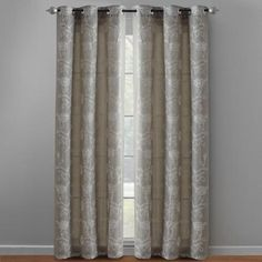 One of my favorite discoveries at ChristmasTreeShops.com: Gray Embroidered Floral Grommet Window Panel Pair