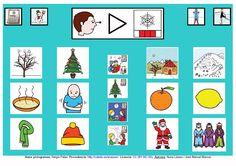 """""""Tablero de comunicación: Invierno"""". Recopilación de diferentes tableros de comunicación de 12 casillas, organizados por necesidades básicas y centros de interés. Los tableros pueden imprimirse tal como aparecen en los documentos o bien se puede modificar el contenido, la forma, el color, etc., para adaptarlos a las características individuales de cada usuario. Pueden utilizarse también para trabajar distintos repertorios de vocabulario agrupado por temas o categorías. Weather Seasons, Spanish Classroom, Classroom Ideas, Conte, Kids Learning, Calendar, Holiday Decor, Html, Communication Boards"""