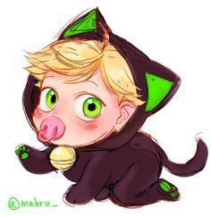 Baby Adrien / Chat Noir! Too cute! (Miraculous LadyBug)