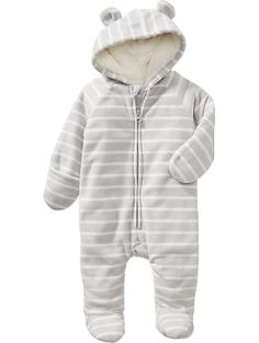 Performance Fleece Bear One-Piece   Old Navy - and all clothes at old navy... so cute