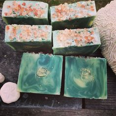 Salt + Sea Clay cold processed soap. Scented with cedar lavender. I. Love. It. #soapshare #brambleberry #coldprocessedsoap