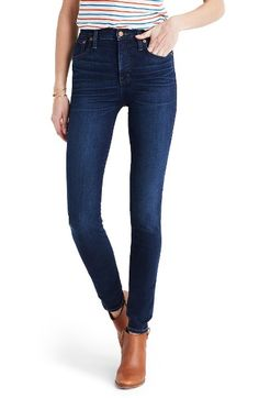 Main Image - Madewell High Rise Skinny Jeans (Hayes Wash)