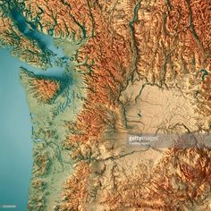 Topographical Map Of South Dakota Topographical State Maps - Topo map of washington state