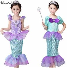 Girls Mermaid Dresses Princess Fancy Clothes Halloween Christmas Party  Dress Kids Fairy Cosplay Costume Children Birthday Gife   Shop 4 Xmas n  Locate this ... 5b6c1fea48e5