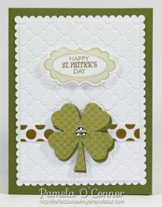 #CTMH St Patrick's Day Card using the #Cricut Explore by Pamela O'Connor at http://reflectionsofmyartandsoul.com