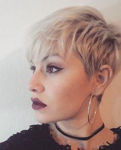 Saturday #pixiecut #pixiehair #pixies #nothingbutpixies #whitehair #me #hair #haircolor #pixiecut #shorthair #shorthairdontcare #undercut #sidercut #hairstyle #haircut #instahair #selfie #inspiration #lip #makeup #darklip