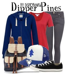"""""""Dipper Pines"""" by leslieakay ❤ liked on Polyvore featuring MANGO, Helmut by Helmut Lang, Brave Soul, Accessorize, Disney, Converse, women's clothing, women, female and woman"""