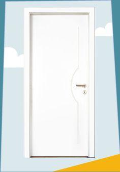 Innentür weiß lackiert mit eingefrästen V-Fugen. #tueren #porte #doors #brixen #suedtirol