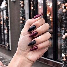 33 Gorgeous fall nail art design Ideas that perfect for any occasion - autumn na. - 33 Gorgeous fall nail art design Ideas that perfect for any occasion – autumn nails - Nail Manicure, Toe Nails, Gel Nail, Coffin Nails, Black And Purple Nails, Black Nails, Black Manicure, Black Nail Art, Black Toe