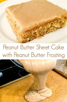 Peanut Butter Sheet Cake Recipe with Peanut Butter Frosting # Peanut Butter . - Peanut Butter Sheet Cake Recipe with Peanut Butter Frosting # Peanut Butter r - Peanut Butter Icing, Peanut Butter Desserts, Köstliche Desserts, Health Desserts, Peanut Butter Cupcakes, Texas Peanut Butter Sheet Cake Recipe, Peanut Cake, Butter Cakes, Peanut Butter Brownies