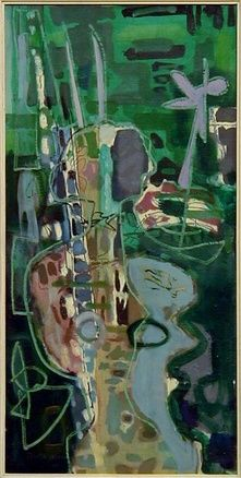 Patrick Heron, Girl in Garden : 1953 Abstract Landscape, Abstract Art, Abstract Painters, Abstract Expressionism, Patrick Heron, Surrealism Painting, Colorful Paintings, Painting Inspiration, Art Inspo