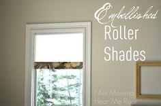 Embellished Roller Shades