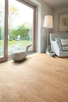 533497 Haro Parkett Plank Plaza Series 4000 Oak white Sauvage strong str … - Home Decor Ideas! Refinishing Hardwood Floors, Wooden Flooring, Interior And Exterior, Interior Design, Piece A Vivre, Scandinavian Home, Style At Home, Plank, Home And Living