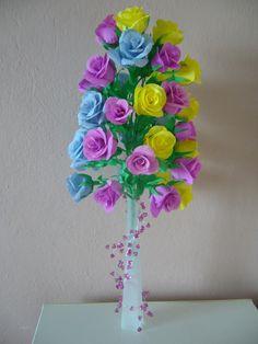 róże z krepiny