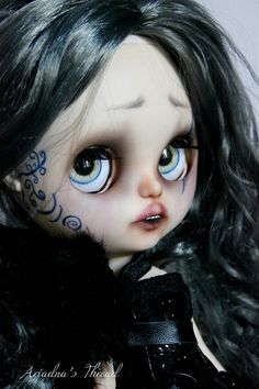 The Morrigan. OOAK Custom Blythe doll. by AriadnaSThread on Etsy