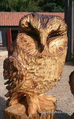 MayTree - Chainsaw carvings and sculpture Tawny owl