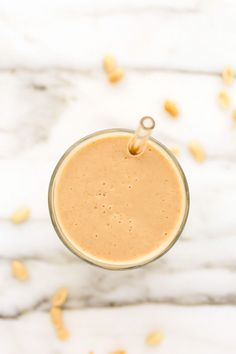 Salted Caramel Peanut Smoothie | Vegan, dairy free, gluten free, and vegetarian. | Click for healthy recipe. | Via Blissful Basil