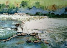 A waterfall....
