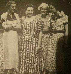 Ilse, Mutti Braun, Eva and Gretl, 1935.