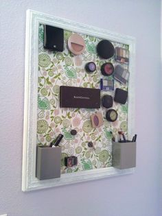 diy magnetic board | Get Your Make-Up Organized With A DIY Magnet Board - Repeat ...