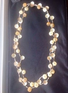 Handmade Shell necklace- Made of Delicate Shells and Beads-Intricate- Versatile-So Pretty