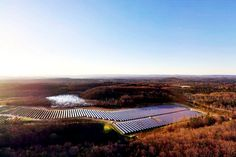 The biggest #solar park of any car manufacturer in North America turned on outside of Volkswagen's Chattanooga, Tennessee facility.