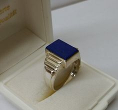 Vintage Ringe - Ring 925er Silber Lapislazuli Platte 19,8 SR585 - ein Designerstück von Atelier-Regina bei DaWanda