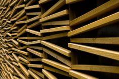 Cámara de Comercio, Bogotá, Colombia /Daniel Bonilla #wood #wall #design