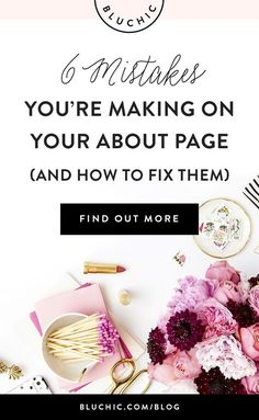 While content and product pages are certainly important, your about page is the one place where people can get to know you and your business best. Check these mistakes you may be making on your about page and exactly how to fix them. Click to find out all!