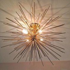 A.ma.zing hack -- GORGEOUS SHINY THINGS: DIY: Brass Urchin Light Fixture