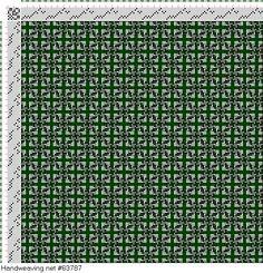 draft image: Figurierte Muster Pl. XXXIII Nr. 12 (b), Die färbige Gewebemusterung, Franz Donat, 8S, 8T
