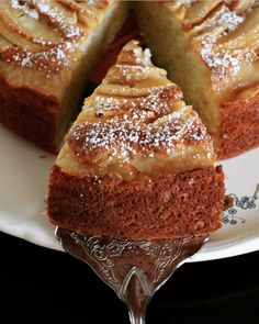 Le Gâteau aux Pommes et Mascarpone Casserole & Chocolat Apple Recipes, Sweet Recipes, Gourmet Recipes, Cake Recipes, Dessert Recipes, Cooking Recipes, Gourmet Foods, Mascarpone Cake, Mascarpone Recipes