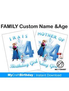 PAW PATROL FAMILY BIRTHDAY IRON ON TSHIRT TRANSFERS PERSONALISED  LOT PT