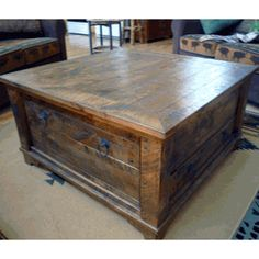 We offer this Autumn Comfort Alder Wood Coffee Table and other premium rustic furniture.