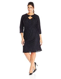 Adrianna Papell Women's Plus-Size 3/4 Sleeve Lace Oragami Dress, Black, 14 Adrianna Papell http://www.amazon.com/dp/B00LO7XQ2C/ref=cm_sw_r_pi_dp_XOi.ub08V8N6X