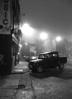 www. The black and white photography of On Coburg street is one… – Cold Winter Nights Night Photography, Fine Art Photography, Street Photography, Landscape Photography, Black And White Prints, Black And White Pictures, Irish Images, Cork City, Railroad Photography