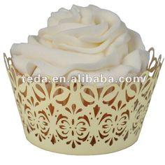 Cupcake wraps for weddings | nozze di cioccolato decorazione torta cupcake wrapper-Forniture di ...