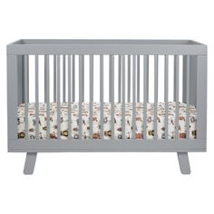 Babyletto Hudson 3-in-1 Convertible Crib with Toddler Rail. Contemporary and already painted gray!!