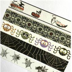 Washi Tape Halloween Spider Ghost Black Spiderweb For