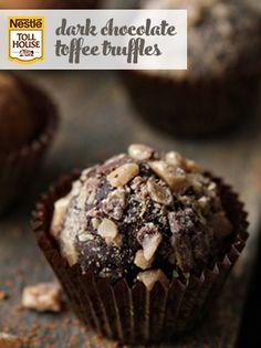Dark Chocolate Toffee Truffles