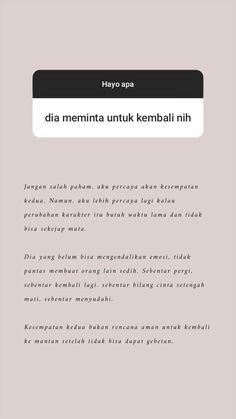 Quotes Rindu, Tumblr Quotes, Text Quotes, Mood Quotes, Life Quotes, Cute Love Quotes, Self Love Quotes, Quotes Lockscreen, Cinta Quotes