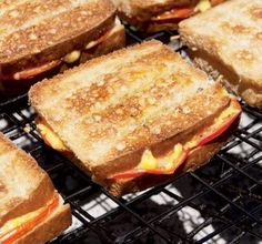 The braaibroodjie (braaied toasted sandwich) is arguably the highlight of any braaing experience. Here's how to make the best ones. Braai Recipes, Cooking Recipes, Barbeque Side Dishes, Easy Dinner Recipes, Easy Meals, Appetizer Recipes, South African Recipes, Tasty, Yummy Food