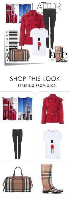 """London"" by carolstos on Polyvore featuring moda, Post-It, Burberry, Lattori, women's clothing, women, female, woman, misses e juniors"