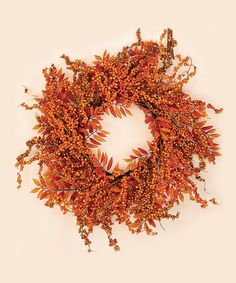 Another great find on #zulily! Fall Berry Fern Wreath #zulilyfinds
