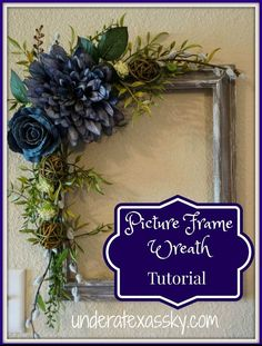 Make a Rustic Wreath from a Picture Frame