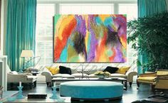 Huge Abstract Print of Painting Colorful Wall by JuliaApostolova