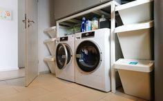 """Gefällt 60 Mal, 5 Kommentare - Aileen (@come0n_aileen) auf Instagram: """"Unser Wäschesortiersystem mit den Ikea Mülleimern #ikea #sortera #bauknecht #hwr…"""""""