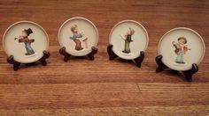 "Hummel Goebel ""Little Music Makers"" Series of Four Handpainted Plates"