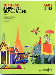 @Stephanie Carey Yeargan LOOK! Thai inspired illustrations 4 Thai inspired illustrations for the Monocle Mag